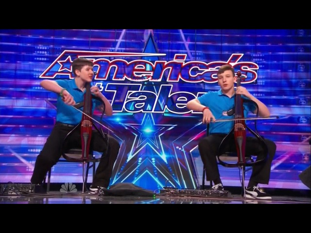 America's Got Talent S09E05 Emil Dariel Brothers perform Jimi Hendrix on Dueling Cellos