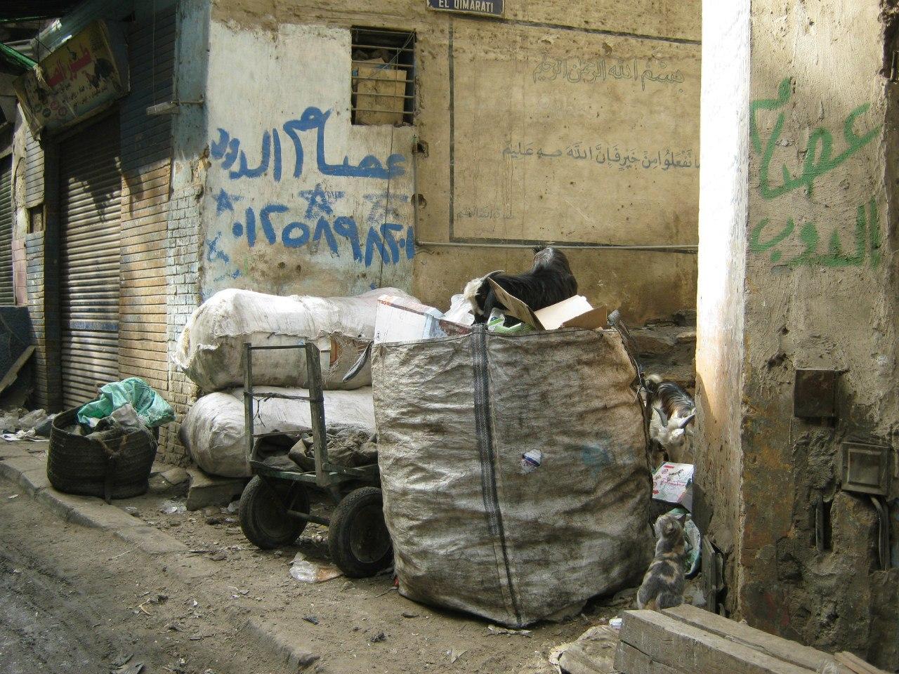 мусор в Каире