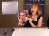 Naomi Grossman aka Pepper from American Horror Story Signs an Autograph