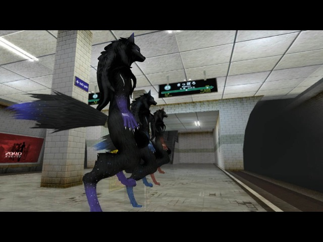 SL Furry Dance - Wolf / фурри волки - танец