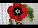 Мак с бутонами Poppy with buds Crochet