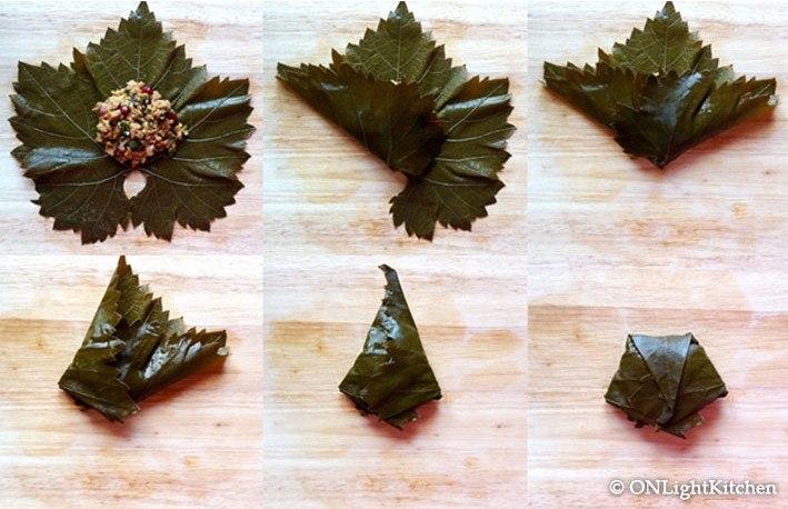 Долма из виноградных листьев рецепт видео
