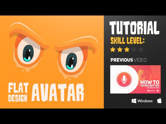 Illustrator Tutorial Flat design avatar by Swerve™
