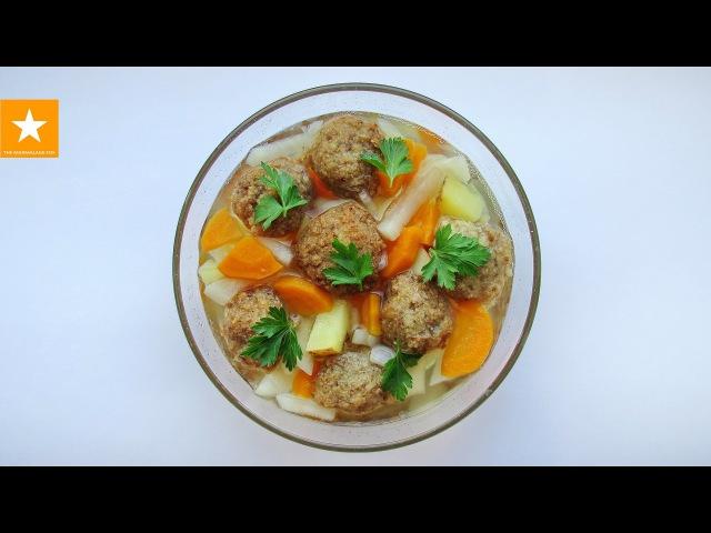 СУП С ФРИКАДЕЛЬКАМИ без мяса от Мармеладной Лисицы. Meatless Meatballs Soup