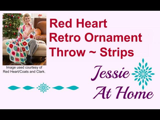 Retro Ornament Throw ~ Strips