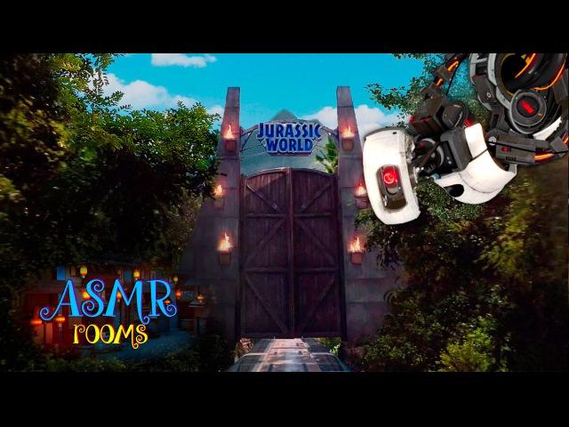 ★ Jurassic World meets Portal 2 ☆ Sassy GLaDOS on Isla Nublar - ASMR jungle ambience GYROSPHERES POV
