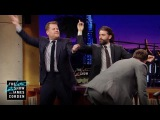 Oscar Isaac, Joel McHale and James Dance