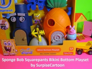 NEW! Nickelodeon's Sponge Bob Squarepants Bikini Bottom Playset (HD)