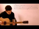 Mad World by Tears For Fears (Fingerstyle Cover Guitar Lesson with TAB)