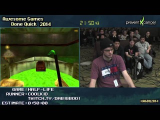 Half-Life 'Hard' SPEED RUN (0:39:25) [PC] Live by Coolkid AGDQ 2014