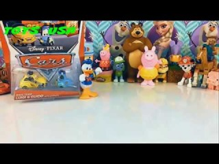 Donald Duck Cars meet new friends peppa pig Маша и Медведь Paw Patrol Play Doh Minecraft