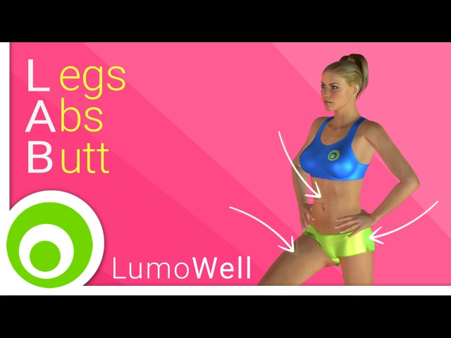 Legs, abs and buttocks workout exercises to tone legs, lift butt and get flat stomach