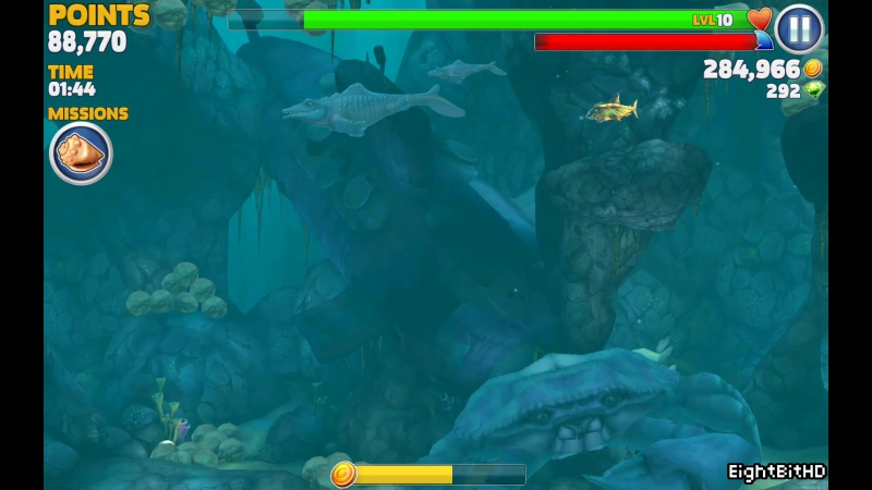 Hungry Shark Evolution MR. SNAPPY (MOSASAURUS) Defeating Giant Blue Crab