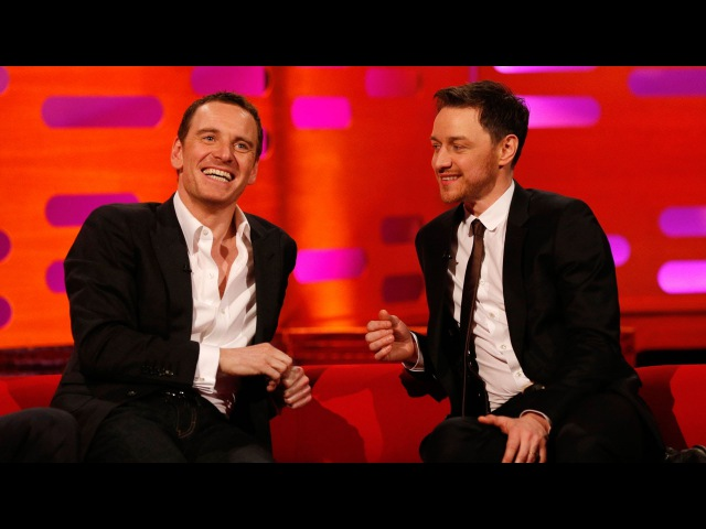 Michael Fassbender James McAvoys fan art romance - The Graham Norton Show - BBC