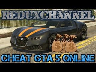 Чит для GTA 5 ONLINE PC 1.28  Накрутка денег, уровня, и прочее.[Обновленный]