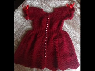 Платье на девочку СПЕЛАЯ ВИШНЯ. Часть 1. Knitting dress for girls