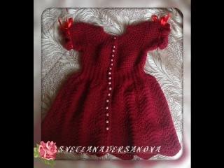 Платье на девочку СПЕЛАЯ ВИШНЯ. Часть 2. Knitting dress for girls