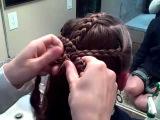 Triple Braid Combo into Messy Bun | Cute Girls Hairstyles