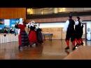 Welsh traditional dance at International students dinner Swansea Univ