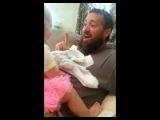 Папа сбрил бороду. Реакция дочери.