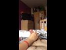 Жена подрочила мужу перед сном, чтоб отъебался / Wife jerking cock before sleep