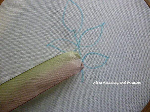 Мастер класс вышивка лентой листьев