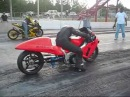 Suzuki Turbo Hayabusa of Death Drag Race Nitrous No Crash