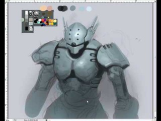 How to draw and paint Mecha Robot