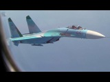 Russian Su-27 Intercepting Plane - Su-27F-16 During Joint Exercises