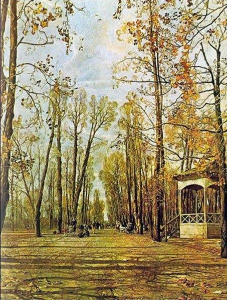 картина бродского летний сад осенью:
