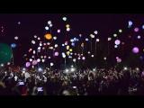 Запуск светящихся шариков на пляже. Сызрань 2015.