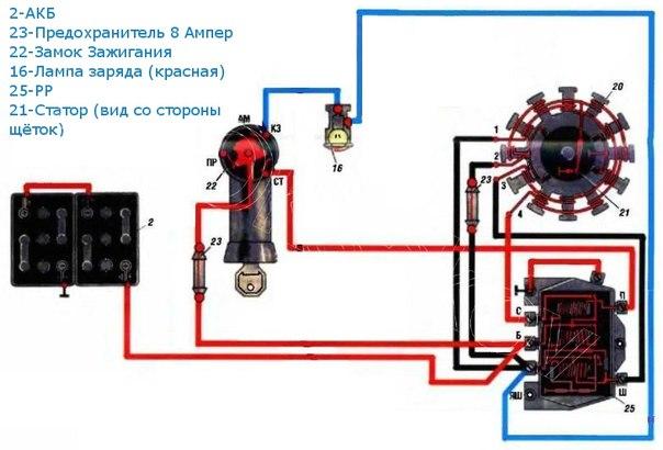 Электронное зажигание мотороллера муравей схема5