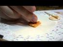 мастер-класс вафельное сердце из полимерной глины.