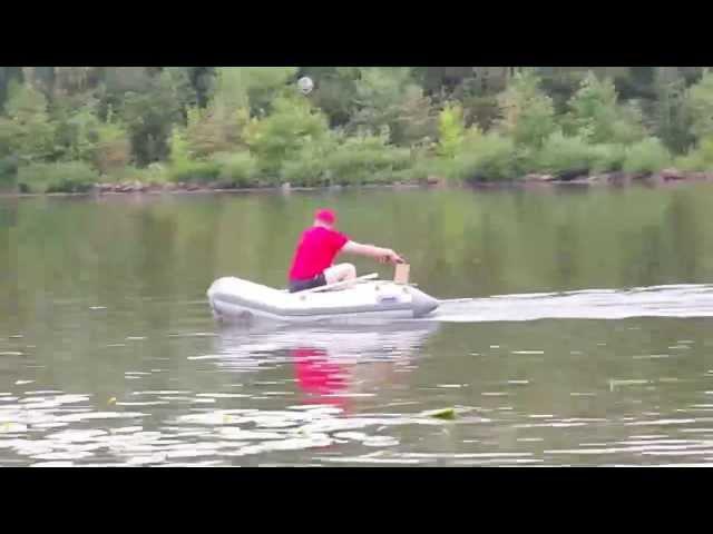 Аккумуляторный лодочный мотор на базе шуруповёрта METABO BS 18 LT 5.2 Ач