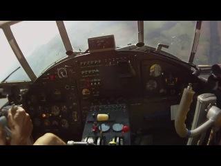 Экстремальное снижение Ан-2 (вид из кабины)