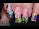 Френч Красивый дизайн ногтей Витраж с аквариумом