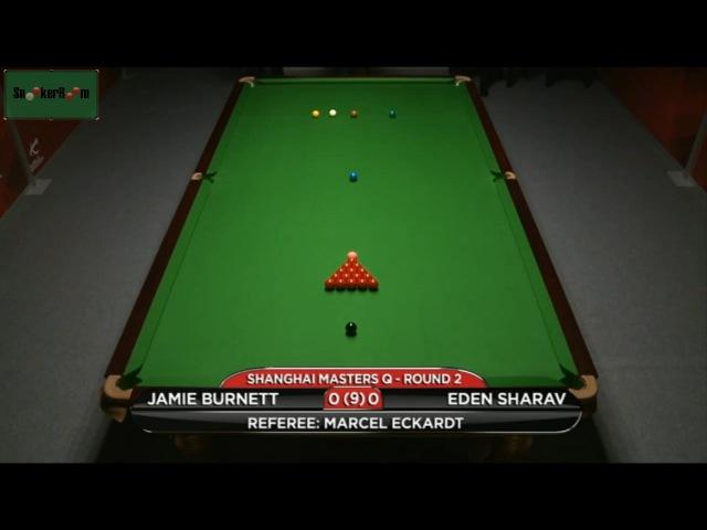 Jamie Burnett v Eden Sharav 2015 Shanghai Masters Qualifiers
