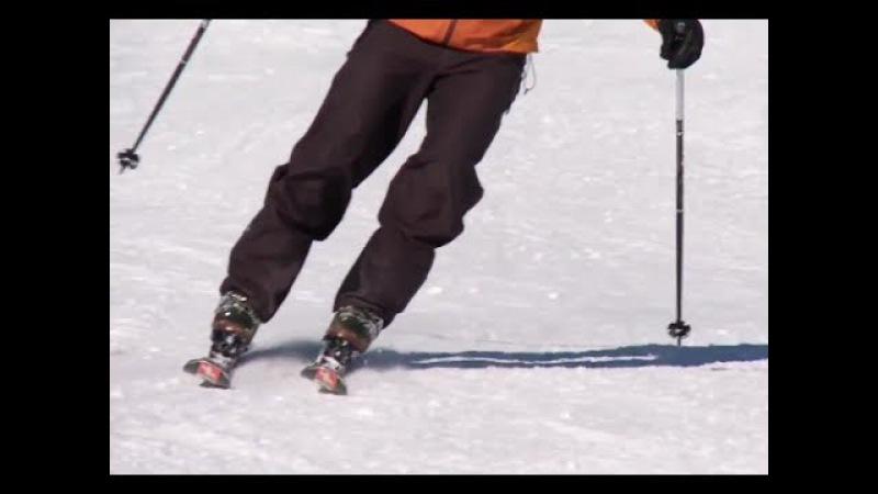 Урок 11 - Как кататься на лыжах и держать их параллельно 11