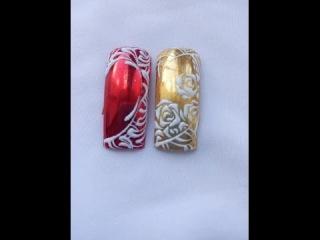 Дизайн ногтей с пастой