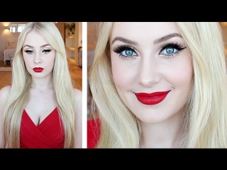 Makeup Tutorial for Fair Skin: Glamorous Pin-Up Look Hair Tutorial