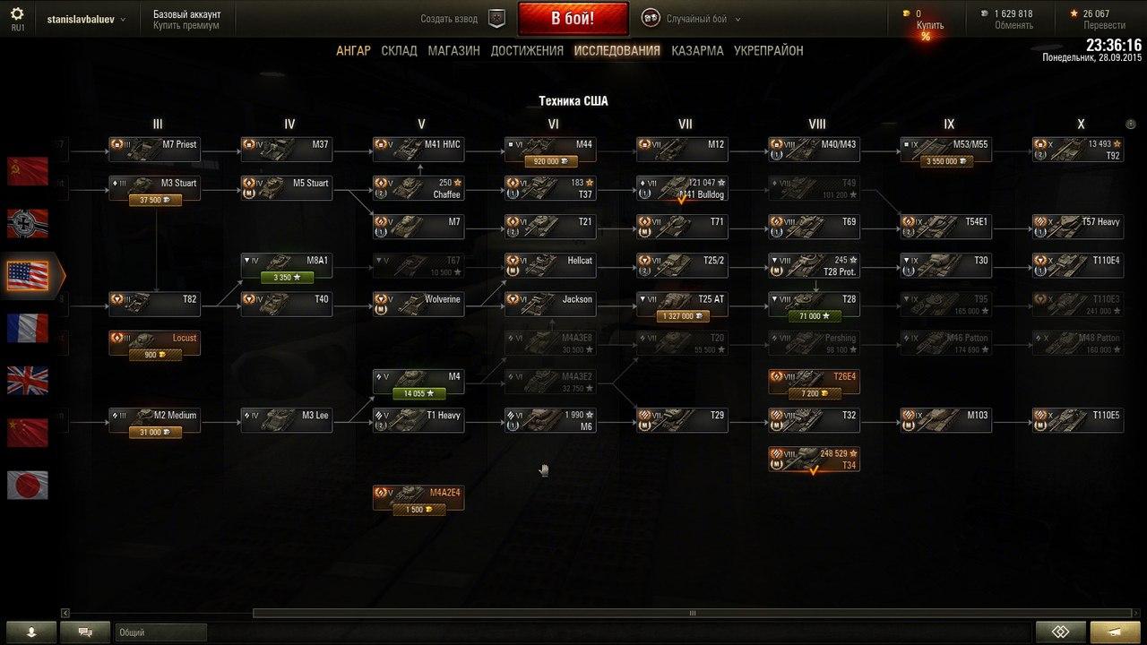 Продажа аккаунта World of Tanks