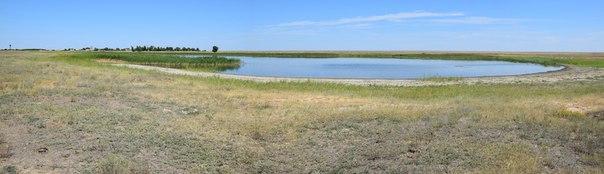 Карстово-суффозионное озеро Жалтырколь у с.Ивановка