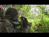 Ополченцы ведут бой с батальоном «Азов» под Мариуполем. mp4