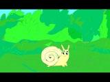 Animation Сrawling snail. Animated cartoon. Улитка ползет. Мультфильм.