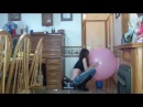 36 inch Balloon popping  black leather boots fun 003 June Marie Liddy