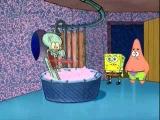 Spongebob and Patrick interupt Squidward's bath