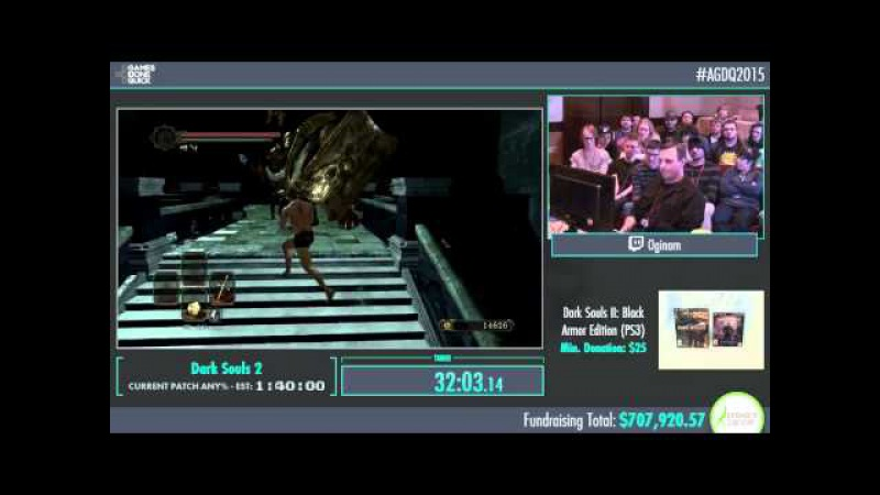 AGDQ 2015 Dark Souls 2 Speed Run in 1:04:33 by Oginam AGDQ2015