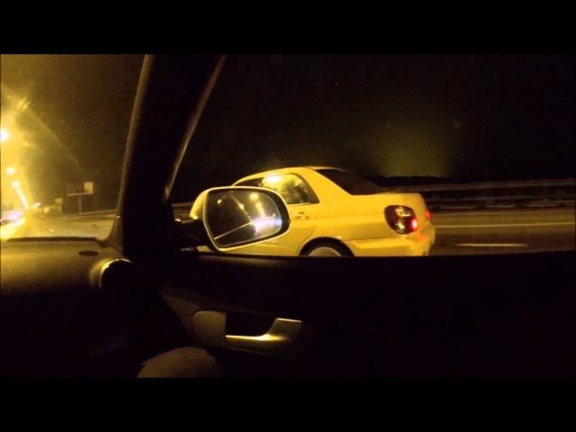 Audi rs3 loba(520hp) vs wrx sti (kir) 60-260km/h