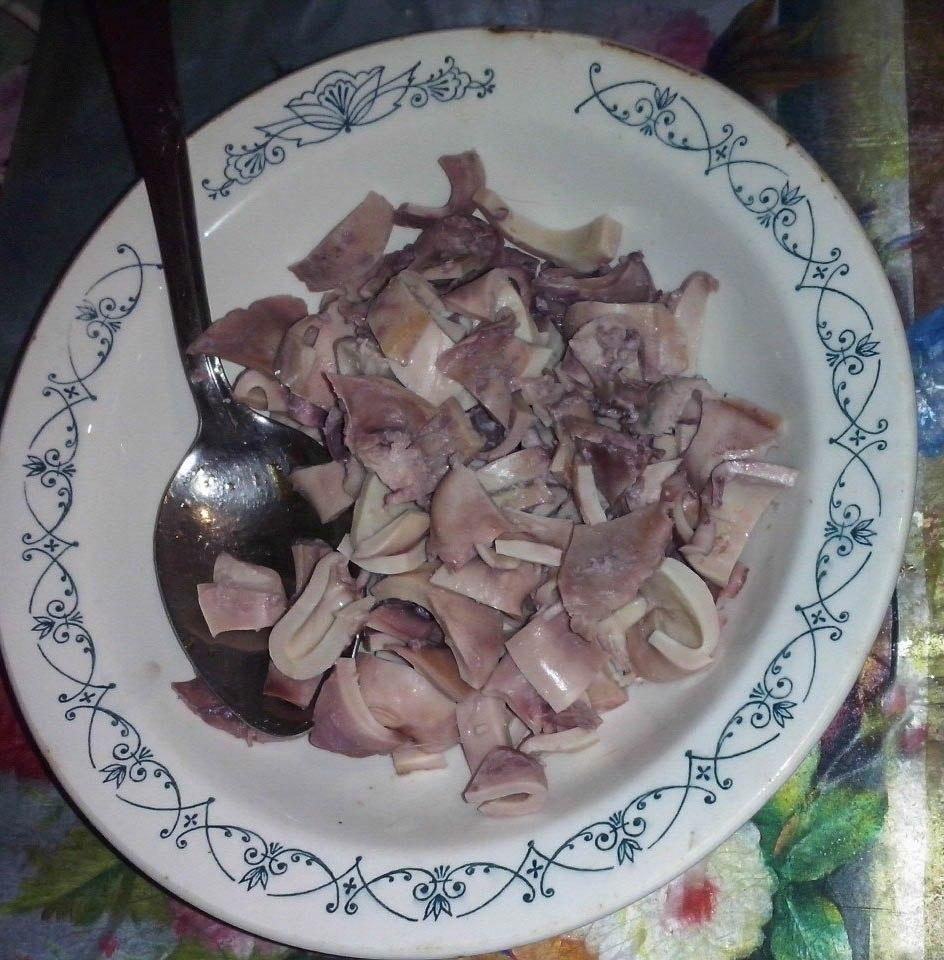 Семга с кальмарами – кулинарный рецепт