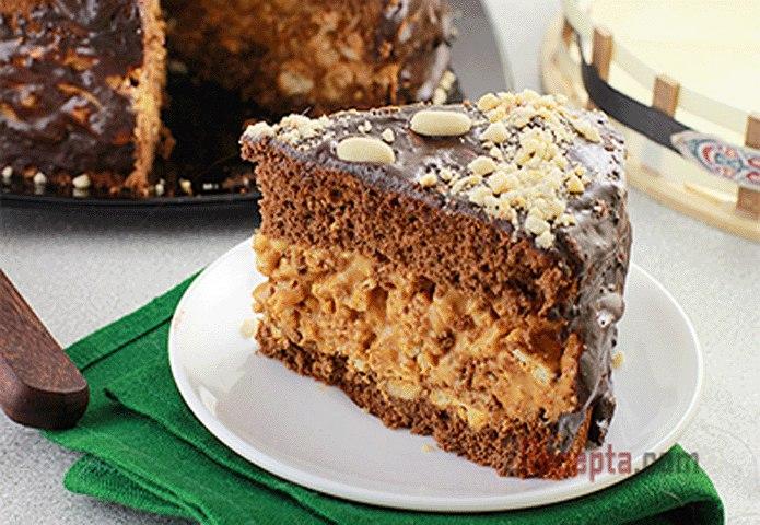 Тортик сникерс рецепт с фото